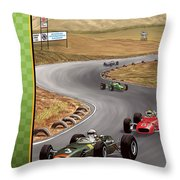 United States Riverside Grand Prix 1967 Throw Pillow