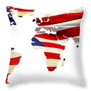 United Worldwide Throw Pillow