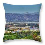 Universal City Warner Bros. Studios Clear Clear Day Throw Pillow