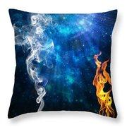 Universal Energies At War Throw Pillow
