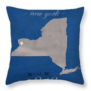 University At Buffalo New York Bulls College Town State Map Poster Series No 022 Throw Pillow