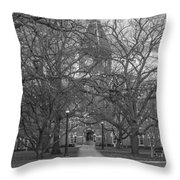 University Hall And Pathway Osu Throw Pillow