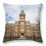 University Hall Ohio State University  Throw Pillow