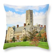 University Hall University Of Toledo 9206 Throw Pillow