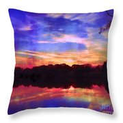 University Lakes At Twilight Throw Pillow