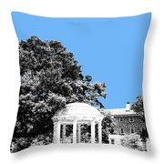 University North Carolina Chapel Hill - Light Blue Throw Pillow