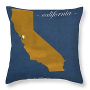 University Of California At Berkeley Golden Bears College Town State Map Poster Series No 024 Throw Pillow