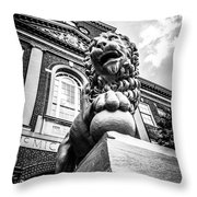 University Of Cincinnati Lion Black And White Picture Throw Pillow