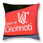 University Of Cincinnati Sign Throw Pillow