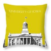 University Of Iowa - Mustard Yellow Throw Pillow