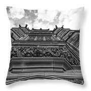 University Of Sydney-black And White Throw Pillow
