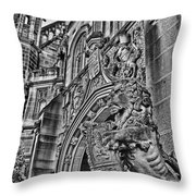 University Of Sydney-black And White V5 Throw Pillow