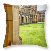 University Of Sydney Quadrangle V2 Throw Pillow