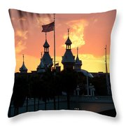 University Of Tampa Minerets At Sunset Throw Pillow