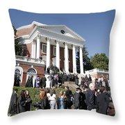 University Of Virginia Rotunda Graduation Throw Pillow