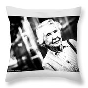 Unknown Grandma Throw Pillow