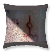 Unknown Symbol Cave Painting Throw Pillow