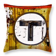 Unknown T - Railroad Art Throw Pillow