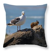 Unlikely Friends By Diana Sainz Throw Pillow by Diana Sainz