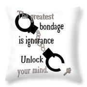 Unlock Your Mind Throw Pillow