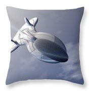 Unmanned Spaceship Throw Pillow