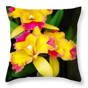 unnamed - Orchid Throw Pillow