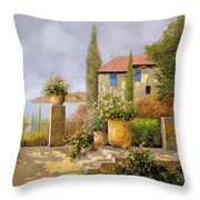Uno Sguardo Sul Mare Throw Pillow