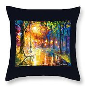 Unresolved Feelings - Palette Knife Oil Painting On Canvas By Leonid Afremov Throw Pillow