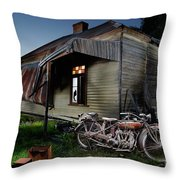 Unrestored 1924 Indian Chief And Australian Farm House Throw Pillow