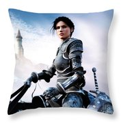 Unsafety Throw Pillow