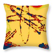 Unstable Atoms Throw Pillow