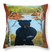 Untitled Bear Throw Pillow