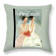 June Brides Throw Pillow