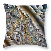 Pond Abstract Throw Pillow