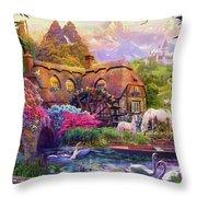 Light Palace Throw Pillow