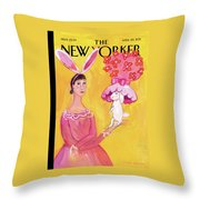 New Yorker April 25th, 2011 Throw Pillow