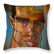 Untitled Male Head August 2012 Throw Pillow by Douglas Simonson