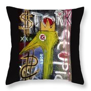 Untitled Stork Stupid Throw Pillow