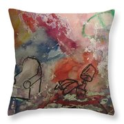 Untitled Watercolor 1998 Throw Pillow