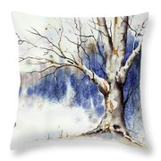 Untitled Winter Tree Throw Pillow