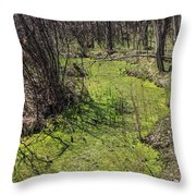 Untouched Algae Takeover Throw Pillow