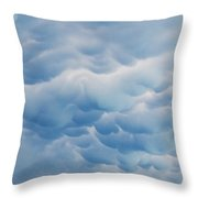 Unusual Cloud Formation Throw Pillow