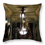 Unusual Lighting Fixture In Laduree On The Champs De Elysees Throw Pillow
