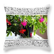 Unusual Simultaneous Bloomers 2 Throw Pillow