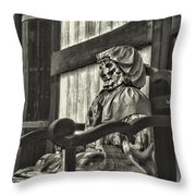 Unusual Statue 2 Throw Pillow
