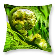 Unveiling Life Throw Pillow