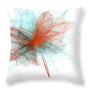 Unwind - Turquoise And Orange Art Throw Pillow
