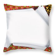 Unwrapping Gifts Throw Pillow