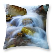 Unyeilding Rock Throw Pillow
