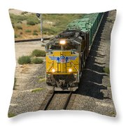 Up 8587 Southbound From Tipton Throw Pillow